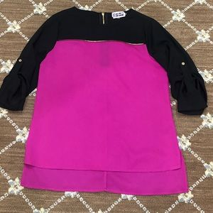 Calvin Klein Pink/Black Top